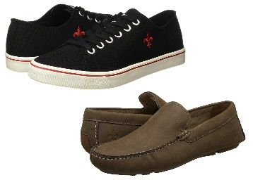 Min. 50 - 80% off on Bond street, Red Tape Shoes from Rs.279