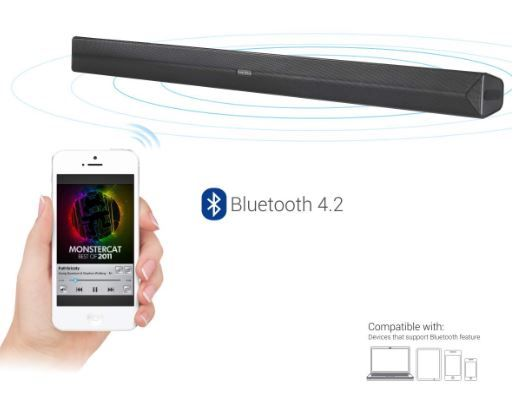 Save Rs.1000 on Portronics Sound Slick Wireless Bluetooth 40W Sound Bar
