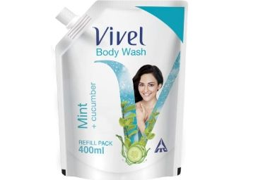 Vivel Body Wash, Mint and Cucumber, 400 ml at Just Rs.99