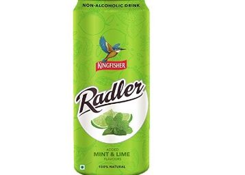 KingFisher Radler Mint Lime Non Alcoholic Malt Drink Can, 300ml at Rs.1