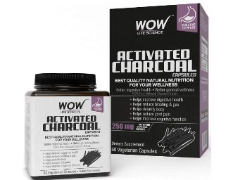 Flat 75% Off: WOW Activated Charcoal 250mg - 60 Vegetarian Capsules