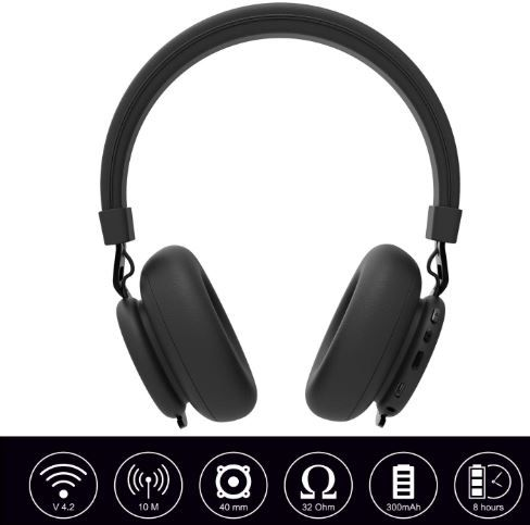 1de81622c8ee7f Flat 75% off on Ant Audio Treble 900 On -Ear HD Bluetooth Headphones with