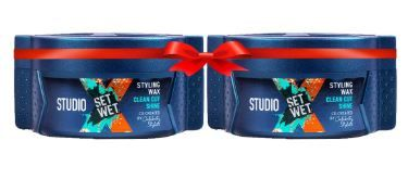 Flat 50% off on Set Wet Studio X Clean Cut Shine Hair Styling Wax For Men, 70g (Pack of 2)