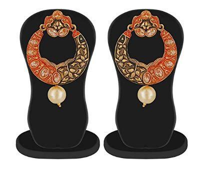 Flat 94% off on Apara Meenkari Kundan Pearl Earrings Set jewellery for Girls/Women
