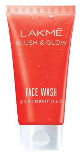 Flat 37% off on Lakme Blush and Glow Strawberry Gel Face Wash, 100g