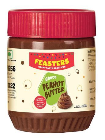 Flat 49% off on Feasters Peanut Butter Chocolate Jar, 227g