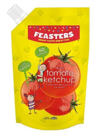 Flat 45% off on Feasters Ketchup Tomato Pouch, 1kg at Rs.69