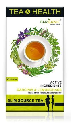 Flat 72% off on  FARGANIC SLIMSOURCE Green Tea, Tea & Health Series with Active Ingredients. 25 Tea Bags