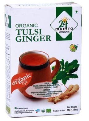 Flat 50% off on 24 Mantra Organic Tulsi Ginger Tea, 50g