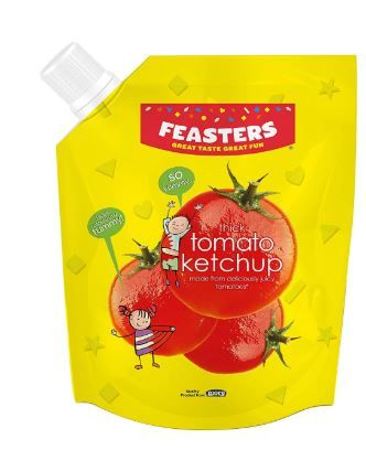 Feasters Tomato Ketchup Pouch, 500g at Rs. 45