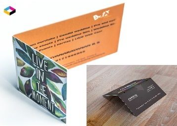 Folded 100 Business Cards @ Rs.175 [Including Shipping]