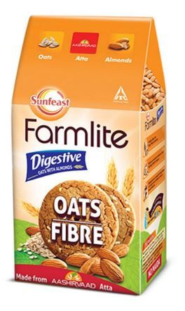 Flat 26% off on Sunfeast Farmlite Digestive Oats with Almonds Biscuits, 150g