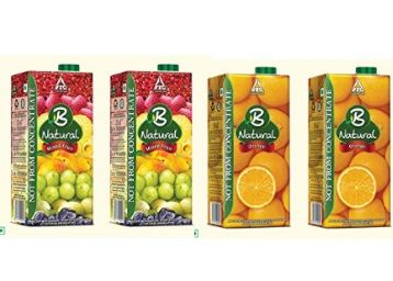 B Natural Fruit Juice 1L Pack of 2 at Flat Rs. 139