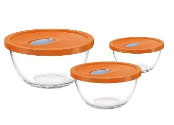 Flat 35% off on Treo Mixing Bowl Set with Lid, 3Pcs (1.5 LTR, 1 LTR, 0.5 LTR)