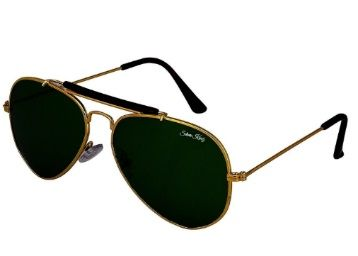 Flat 75% off on Silver Kartz Aviator Unisex Sunglass