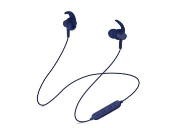 Flat 50% off on SoundLogic Play Voice Assistant Sport Earbuds Bluetooth Headset with Mic (Blue, in The Ear)