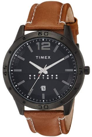 Min. 65% off on Timex Analog Black Dial Men