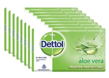 Flat 40% off on Dettol Soap - 100 g (Pack of 8, Aloe Vera)