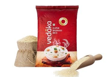 Flat 52% off on Amazon Brand - Vedaka Super Basmati Rice, 5 kg