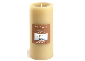 Flat 76% off on Hazelnut Creme Highly Scented Brown Pillar Candle by Hosley