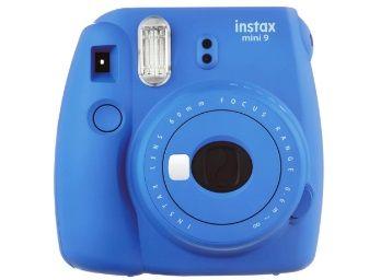 Flat 28% off on Fujifilm Instax Mini 9 Instant Camera (Cobalt Blue)