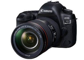 Canon EOS 5D Mark IV 30.4 MP Digital SLR Camera (Black) + EF 24-105mm