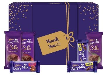 Cadbury Assorted Chocolates Gift Box with Thank You Messaging Sleeve, 278 gm At Rs.240
