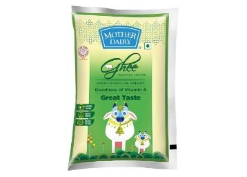 Mother Dairy Cow Ghee Pouch, 1L At Rs.405