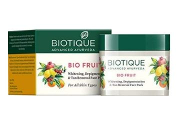 Flat 30% off on Biotique Bio Fruit Whitening And Depigmentation & Tan Removal Face Pack, 75g