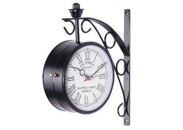 Black Metal 6 Inch Railway Clock by Anantaran At Rs.799