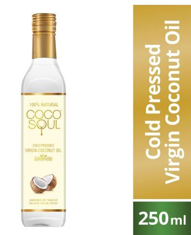 Apply 15% Coupon - Coco Soul Cold Pressed Natural Virgin Coconut Oil, 250 ml