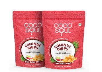 Apply 50% Coupon - Coco Soul Coconut Chips, Thai Chilli Lime, 2 X 33 g