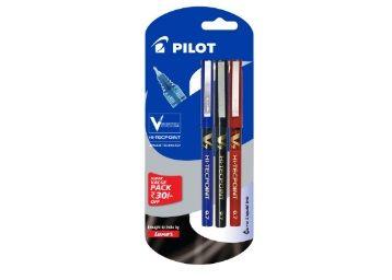 Pilot V7 Liquid Ink Roller Ball Pen (1 Blue + 1 Black + 1 Red) At Rs. 128