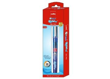 Flat 40% off on Cello Geltech Quickdry Gel Pen - Pack of 50 (Blue)