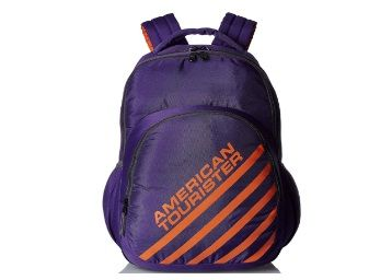 American Tourister 21 Ltrs Purple Casual Backpack (Ebony Backpack 01)
