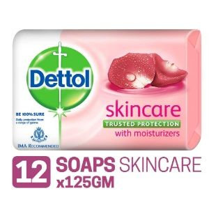 Apply 15% Coupon - Dettol Skincare Soap - 125 g (Pack of 12)