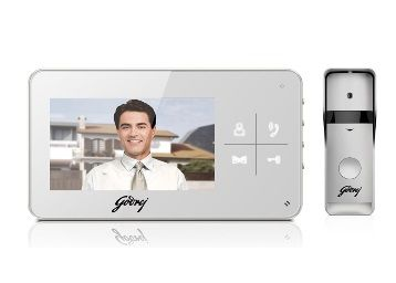 Godrej Security Solution Solus 4.3 Lite Video Door Phone Digital Powder Coated Finish( White 6Pc)