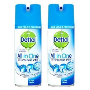 Dettol Disinfectant Spray - 400 ml (Crisp Linen) Pack Of 2 AT Rs.849