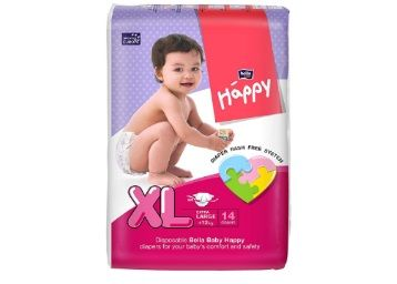 Bella Baby Happy Extra Large Diapers (14 Pieces) At Rs.153
