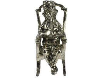 eCraftIndia Lord Ganesha on Rocking Chair Antique Showpiece at Just Rs. 419 + Free Shipping