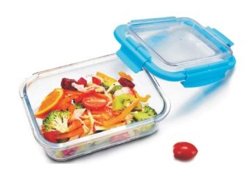 Sanjeev Kapoor Glass Conyx Rectangular Container with Lid, 1.04 Litre At Rs.264