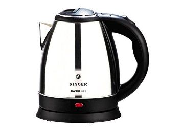 Flat 70% off on Singer Cutie DX 1500 Stainless Steel Electric Kettle, 1000 Watts