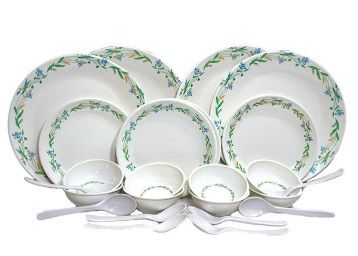 Czar 24 Pc New Dinnner Set-Green Border At Rs.559 [Use Coupon - OFFER20]