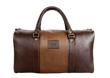 Flat 86% off on Scharf Mikkel Edward Unisex Faux Leather 20 Litre Duffel Travel Bag