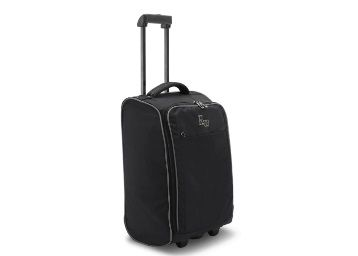 Flat 75% off on Harissons Raptor Polyester Black Cabin Trolley Bag, 30 Litres