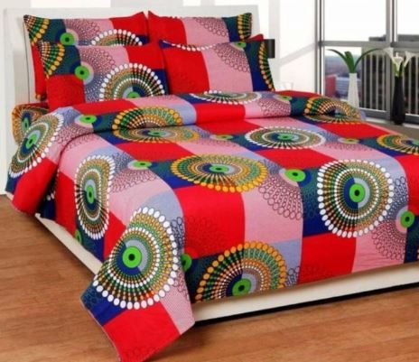 Jars Collections Floral Polycotton Double Bedsheet With 2 Pillow Covers at Rs. 299