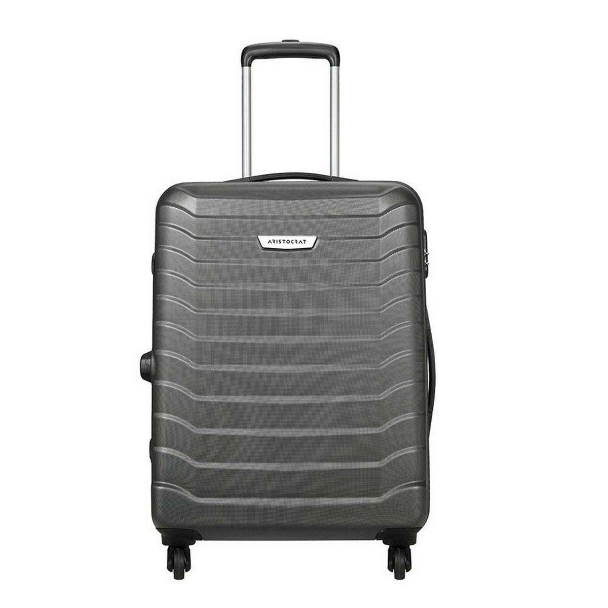 Aristocrat Juke Polycarbonate 65 cms Grey Hard Sided Suitcase