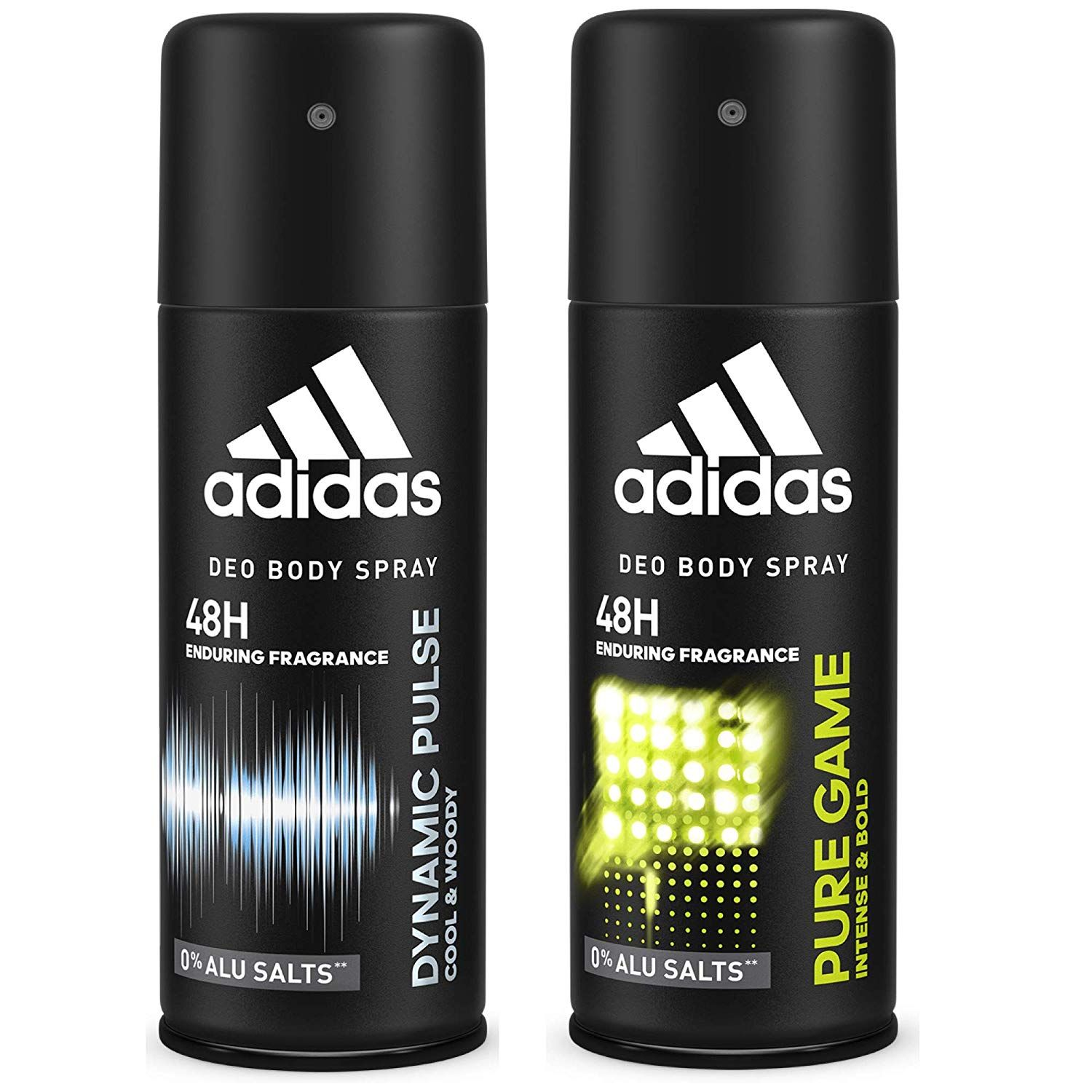 Adidas Dynamic Pulse & Pure Game Deodorant Body Spray Combo