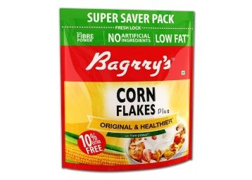 Flat 50% off on Bagrrys Corn Flakes, 800g (with Extra 80g)