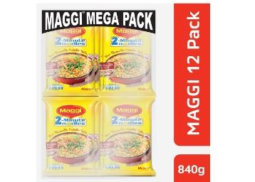 Maggi 2-Minute Noodles Masala, 70g (Pack of 12) at Rs.118 + Free Shipping
